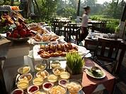 Breakfast buffet at Mandarin Oriental dhara Dhevi hotel, Thailand