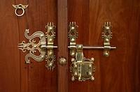 Door Detail at Indus Valley Ayurvedic Center in Mysore, India