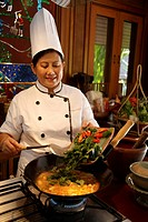 Thai Food in Thailand. Chef in Chiang Mai