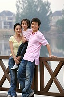 chinese families walking outdoors,beijing,china