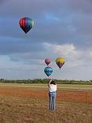 Hot_air balloon,23rd Annual Race. Tamiami Airport, Miami, USA