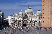 Italy, Venice. San Marco´s basilica and square
