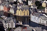Norway Alesund aerial view