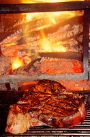 Italy, Tuscany, Typical Fiorentina. Grilled beef steak