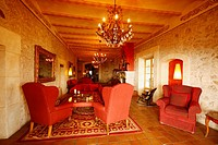 Living room in the hotel Posada del marques, mallorca Island, Spain