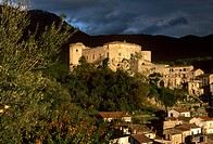 Italy, Campania, Matese. The medieval village of Prata Sannita