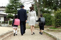 Family on first day of school