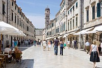 View of Placa or Stradun _ Main Street in Dubrovnik, Croatia