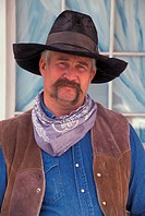 USA, Oregon, portrait of cowboy