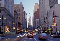 City Hall, Philadelphia, PA, Pennsylvania, City Hall on Broad Street in downtown Philadelphia in the evening.