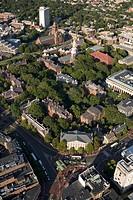 USA, Massachusetts, Cambridge, Harvard Square, aerial view