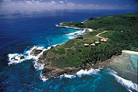Seychelles, Aerial view of the private villa on Fregate Island
