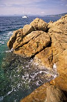 Southern France, rocks and sea