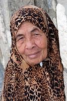 Israel, Jerusalem, senior palestinian woman