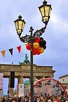 Berlin, Germany. Celebrations at the Brandenburg Gate on 3 October for the 15th anniversary of German unification after the fall of the Berlin Wall