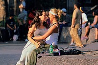 Young couple, Central Park _ New York_ USA