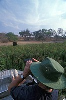 Botswana. Safari on boat on river Chobe