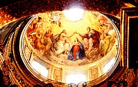 Italy, Umbria, Gubbio, San Domenico Church, Virgin´s coronation
