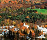 New England village of Chelsea in Vermont in autumn