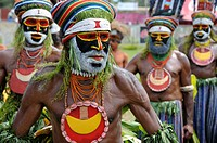 Papua New Guinea, highland festival, warriors