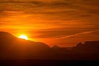 Rock formations at sunset, Lake Powell, Page, Arizona, USA