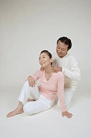 Mature man massaging mature womans neck