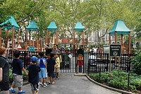 Bridget's Garden playground. Madison Square Park. East Manhattan, New York, New York. USA