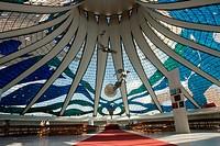 Metropolitan cathedral Ours Mrs. Aparecida, Distrito Federal, Brasília, Brazil