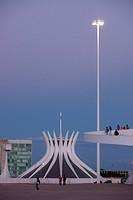 National Museum, Metropolitan Cathedral Ours Mrs. Aparecida, Esplanade Ministries, city, Distrito Federal, Brasília, Brazil