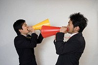 Two businessmen shouting