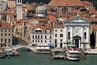 Italy, Veneto, Venice, Riva degli Schiavoni,from San Giorgio island