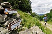 Italy, Piedmont, Sessera Valley, Trekker