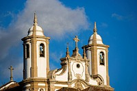 Brazil, Minas Gerais State, Ouro Preto City. Church of our lady of Carmel