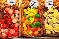 Marzipan  La Boqueria Market  Barcelona, Catalonia, Spain