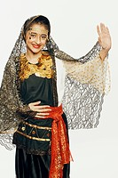 Portrait of a girl dancing