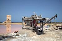 Italy, Sicily, Marsala, saltworks