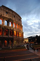 Italy, Lazio, Rome, the Colosseum at dusk