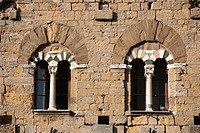 Italy, Tuscany, Volterra, Palazzo dei Priori, detail