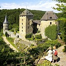 Belgium, Province of Liege, East Cantons, Ovifat village, Reinhardstein fortified castle, built 1354 by Renaud de Waisne