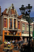 Europe, Netherlands, North Netherlands, Alkmaar, cafe