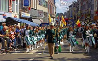 Belgium, Liege city, in Outremeuse, Roture, Parade during the feast day of August 15th