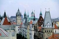 CZECH REPUBLIC, PRAGUE, VIEW OF OLD TOWN