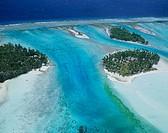 Aerial View of Bora Bora Island, Tahiti
