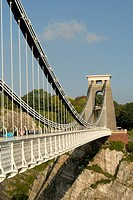 Bristol UK The Clifton suspension bridge over the Avon Gorge