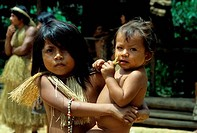 AMAZON RIVER, YAGUA INDIAN CHILDREN