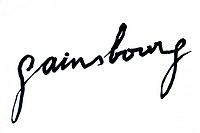 GAINSBOURG Serge 1928-1991, famous french musician and poet  His signature