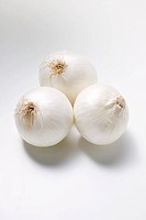 Three white onions