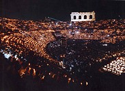 Italy, Veneto, Verona, the Arena, opera performance