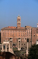 Italy, Lazio, Rome, roman forum and Luca e Martina church