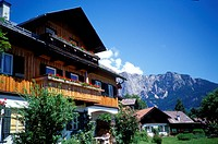 Austria, building exterior with mountain in the background